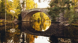 Bridge Fall River 3840x2160 Wallpaper