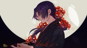 Flower Itachi Uchiha Moon Night 2972x1994 Wallpaper
