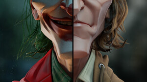 Joker 2019 Movie Joker Smile Digital Art Poster Humor Green Hair Face Makeup Arthur Fleck 1080x1896 Wallpaper