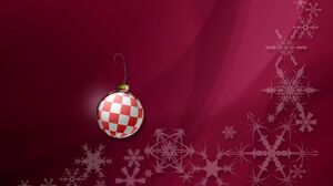 Christmas Christmas Ornaments Red Snow Winter 1440x1080 wallpaper