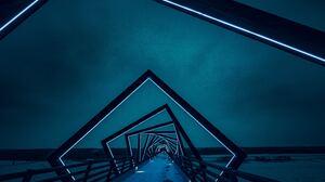 Path Winter Night Architecture High Trestle Trail 5672x3781 wallpaper