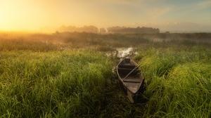 Outdoors Nature Landscape Boat Vehicle Sunlight Plants 3840x2160 Wallpaper