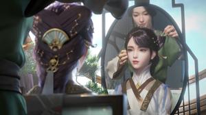 Women Fantasy Art Fantasy Girl Asian Anime Girls Lipstick Pink Lipstick Dark Hair Video Game Girls G 7680x4320 Wallpaper