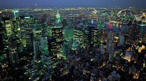 Building Cityscape Light Manhattan New York Night 1920x1200 Wallpaper