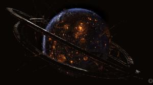 Morten Solgaard Pedersen Digital Art Fantasy Art Planet Space Science Fiction 1920x898 Wallpaper