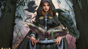 Book Crow Girl Hood Lipstick Magic Witch Woman 2045x1500 Wallpaper