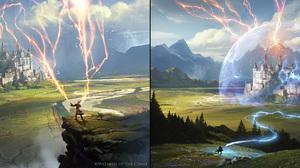 Wizard Lightning Castle 2998x1102 Wallpaper