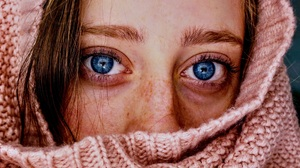 Women Face Freckles Eyes Blue Eyes Covered Face 1920x1160 Wallpaper