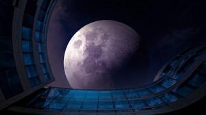 Blue Earth Moon Sky 2200x1386 Wallpaper