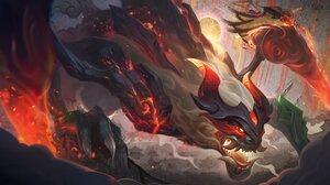 ChoGath ChoGath League Of Legends League Of Legends Riot Games Chinese 4096x2304 Wallpaper
