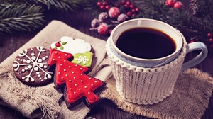 Christmas Christmas Tree Coffee Cookie Gingerbread 2560x1706 Wallpaper