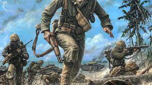 US Marines World War Ii Soldier War Artwork 1080x1350 Wallpaper