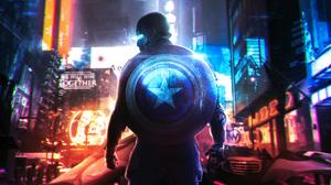 Digital Digital Art Artwork Steve Rogers Captain America Shield Marvel Cinematic Universe Marvel Com 3500x1969 Wallpaper