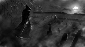 Death Graveyard Night 1920x1080 Wallpaper