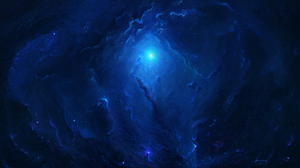 Blue Cosmos Space Stars 5120x2880 Wallpaper