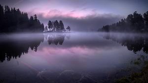 Nature Lake Fog 1920x1316 wallpaper
