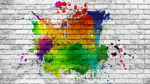 Wall Abstract Colorful Paint Splash 5760x3840 Wallpaper