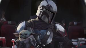Baby Yoda Star Wars The Mandalorian Character 6000x3000 Wallpaper