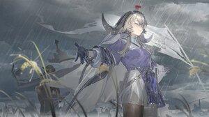 Anime Anime Girls Arknights Video Games Fantasy Art Fantasy Girl Video Game Girls Rain Closed Eyes P 1920x1044 Wallpaper