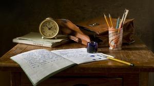 Book Ink Notebook Pencil Watch 1920x1200 Wallpaper