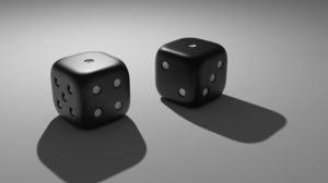 Blender Dice Simple Gambling Digital Art Simple Background Minimalism Render 3D Blocks Cube 3840x2160 Wallpaper