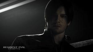 Leon S Kennedy Men Screen Shot Resident Evil Resident Evil Vendetta Face Movies Hair Zombies Leather 1920x1080 Wallpaper