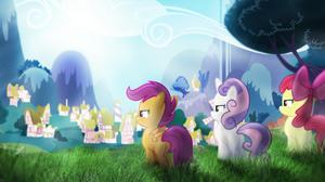 Apple Bloom My Little Pony Scootaloo My Little Pony Sweetie Belle Vector 1920x1080 Wallpaper