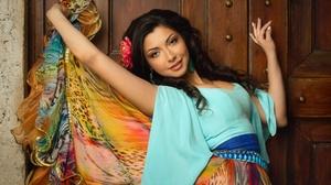 Brunette Girl Gypsy Skirt 2175x1450 wallpaper