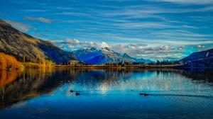 Lake Hayes Landscape Mountain New Zealand 8056x6122 Wallpaper