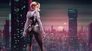 Comics Artwork Marvel Comics Spider Gwen 3840x2160 Wallpaper