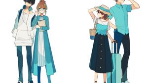 Anime Anime Girls Anime Boys Anime Couple Original Characters 3058x2279 wallpaper