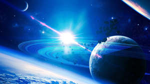 Asteroid Planet Space Galaxy 2560x1600 Wallpaper