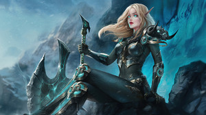 Artwork Elk Female Warrior Fantasy Art Fantasy Girl Blonde Axes 1920x1080 Wallpaper