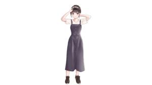 Anime Anime Girls Original Characters Artwork Yukimaru217 Dress Baseball Cap Sneakers 2560x1440 wallpaper