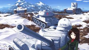 Tank Snow Nonna Girls Und Panzer 2032x1404 wallpaper