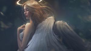Angel Halo Wings Woman 1920x1408 Wallpaper