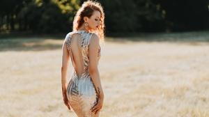 Woman Model Girl Depth Of Field Dress Earrings Redhead 2047x1315 Wallpaper