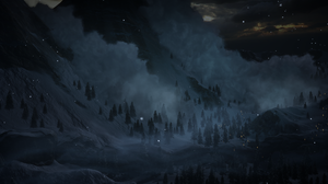 Dragon Age Inquisition Dragon Age Dark Blue Landscape Hill Trees Clouds PC Gaming Snow 2532x1436 Wallpaper