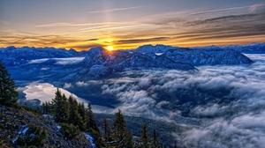Alps Austria Cloud Sunrise 6032x4032 Wallpaper