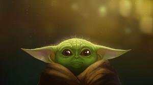 Baby Yoda The Mandalorian Tv Show 1920x1143 Wallpaper