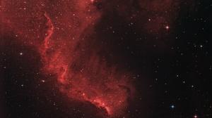Nebula Red Space Stars 2598x1694 wallpaper