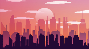 Asthi Seta Digital Art Illustration Cityscape City Clouds Vector Artwork DeviantArt Vector Art Conce 4000x2250 Wallpaper