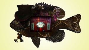 Illustration Fantasy Art Steampunk Digital Art Graphic Design Fish Artwork 1321x800 Wallpaper