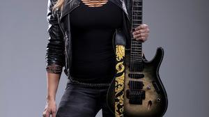 Nita Strauss Guitar Blond Hair Boots Women 1800x2700 Wallpaper