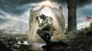 Armor Knight Sword Warrior 5000x2812 Wallpaper
