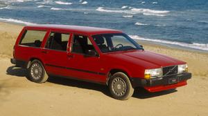 Kombi Red Car Volvo 700 Series 1920x1080 wallpaper