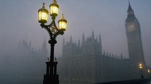 Big Ben Fog London Night Street Light 2312x1526 wallpaper