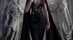 Ghost Blade Comics Digital Art Fantasy Girl WLOP 1132x1992 Wallpaper