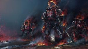 Armor Sword Undead Warhammer Warrior 2560x1440 Wallpaper