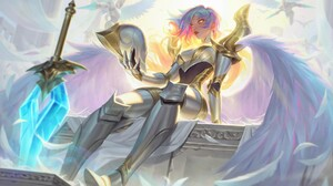 Artwork Fantasy Art Angel Sword Armor Wings 1920x1133 Wallpaper